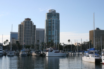 arriving at St Pete marina