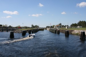 Leaving Ortona Lock