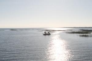 Early morning fishermen on Lake Okeechobee