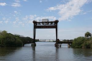 Railroad lift bridge near Indiantown