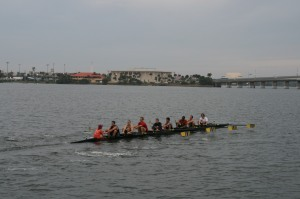 The rowers coming back at 7.30
