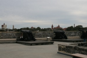 The roof of the Castillo San Marco