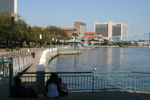 The waterfront, downtown Jacksonville
