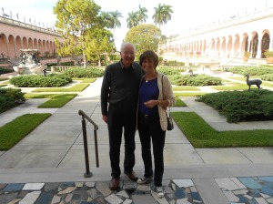 At the start of the trip - at the Ringling Museum, Sarasota.