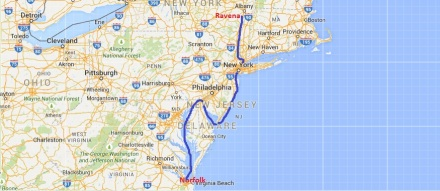 Norfolk to Albany