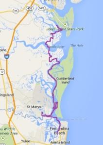Fernandina to Jekyll Island