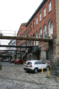 Back of the riverside warehouses, Savannah