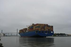 HS Columbia arriving at Savannah