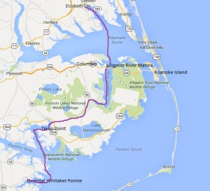 Whitaker Pointe to Elizabeth City