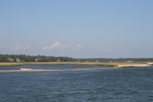 Approaching Lockwood's Folly Inlet, near Southport