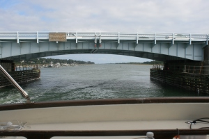 Approaching Wrightsville Bascule Bridge