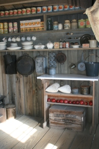 The kitchen at the Wrights' camp