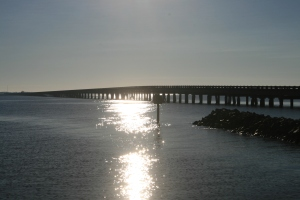 The bridge to Roanoke Island, from Alligator River