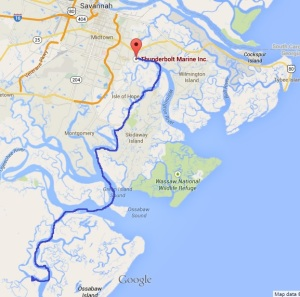 Kilkenny to Thunderbolt Marina, Savannah