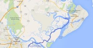 Thunderbolt Marina, Savannah, to Bull Creek