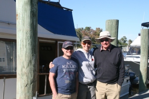 Nick, Liz and Ian at Coinjock Marina