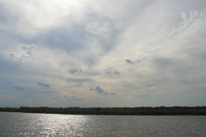 Dramatic sky at our mooring near  Pungo River Ferry