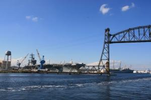 USS Eisenhower at Norfolk Naval Base