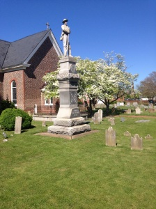 St John's Hampton, with the statue of the Confederate Soldier