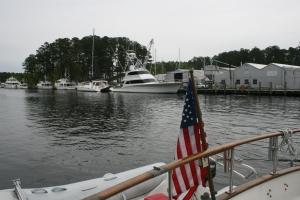 Leaving Atlantic Yacht Basin