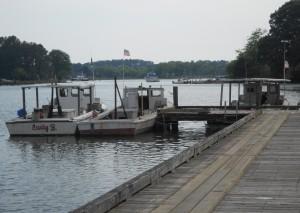 Fishing boats at San Domingo Creek