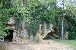 Caves under the bluff