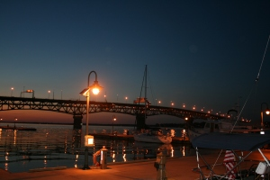 Coleman Bridge at nightfall