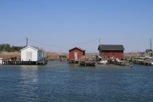 Watermen's sheds, Tangier Island