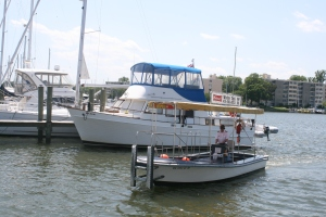 The Annapolis Water Taxi with Carina in the background