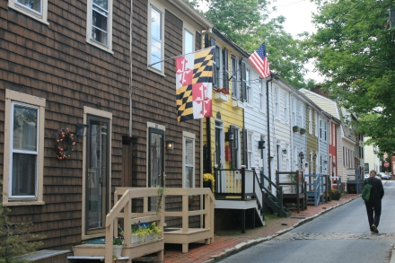 Pinkney St and the Maryland State Flag