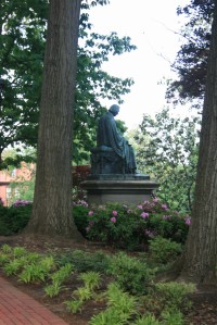 Statue of Roger Brooke Taney outside the State House