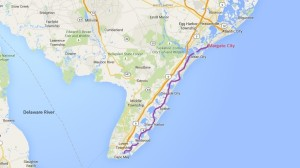 Cape May to Margate City