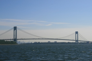 The Verrazano Bridge between Staten Island and Brooklyn