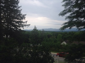 View from Cedar Grove to the Catskills