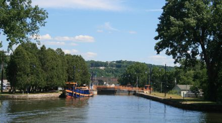 Looking back at Lock 2, Erie Canal