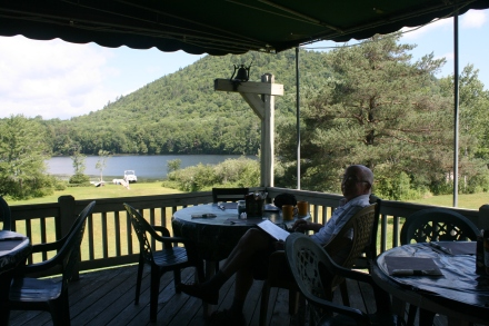 Coffee at the Oxbow Lake Inn