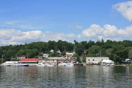 Looking back to Coeymans Landing Marina