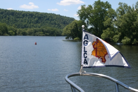 Flying the flag of the American Great Loop Cruisers' Association