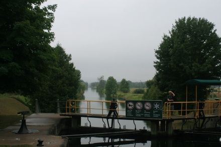 Portage Lock 39 in the rain