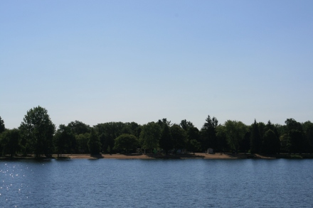 Beach at Beavermead Park, Little Lake, Peterborough