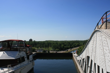 At the top of the Lift Lock