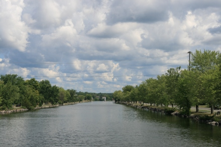 The approach to Campbellford above Lock 12