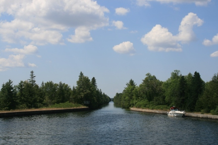 The Trent Canal at the top of Balsam Lake