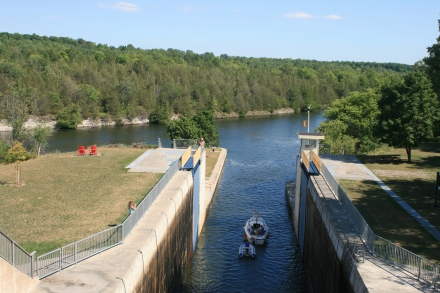 View from the top of Lock 12
