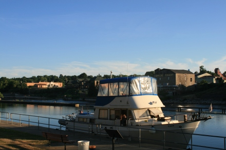 Moored above Lock 8, Oswego