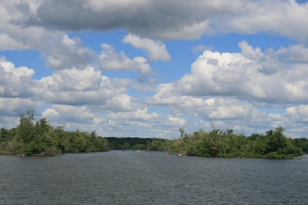 Entrance to the Otonabee River from Rice Lake