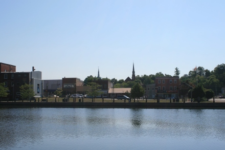 Campbellford Downtown from the dock