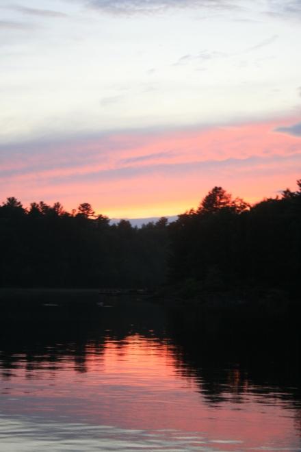 Sunset at Deep Bay, Sparrow lake