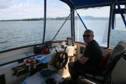 Nick at the helm