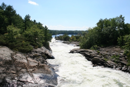 The spillway at Big Chute
